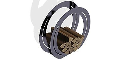 ARTTEC Design Holzsammler/-Korb Kaminholzregal Feuerholzständer aus Edelstahl als nützliche Deko für Grill, Kamin und Feuerstelle
