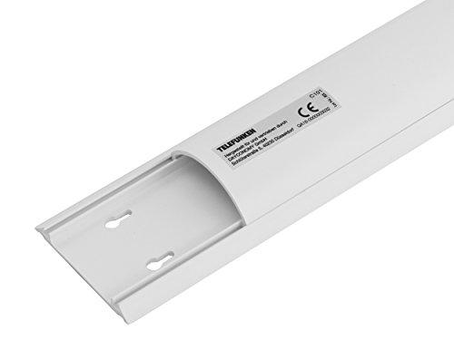 Telefunken C101 Kabelkanal (Abgerundete Kabelführung aus PVC, Länge 1m, Selbstklebend) weiß