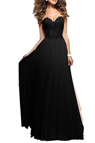 Abschlussball kleider lang schwarz