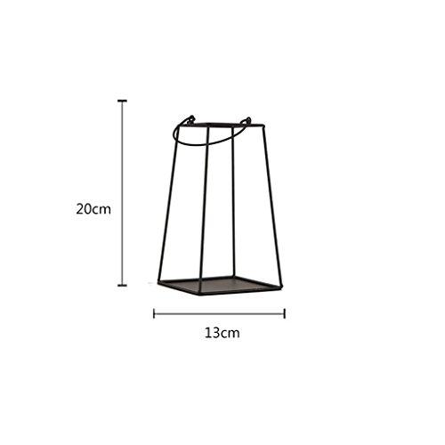 YUAN Unregelmäßige Prisma Glas Geometrische Terrarium Tabletop Box Blumentopf Pflanzgefäß Große Höhe für Sukkulente Fern Moos (größe : B)
