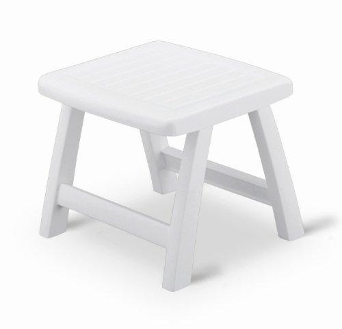 Kettler 1038-000 Tabouret Roma Châssis de tout Plastique Blanc
