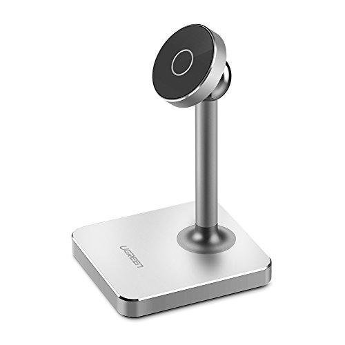 UGREEN Handy Ständer Magnet Handy Halterung magnet Handystand Tisch Ständer 360 grad drehbar Phone Holder Aluminium für iPhone X/8/7 / 6s / 6,Samsung S8 / S7/ S6, Huawei Mate10/ P10 / P9 / P8 usw Test