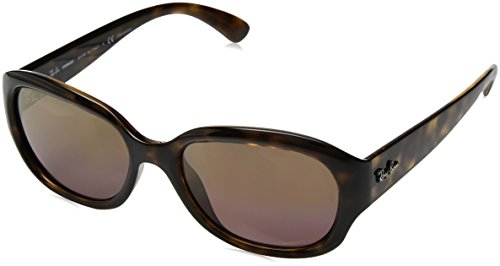 Ray-Ban RAYBAN Damen Sonnenbrille 4282ch Havana/Purplemirgoldgradientpolar, 55