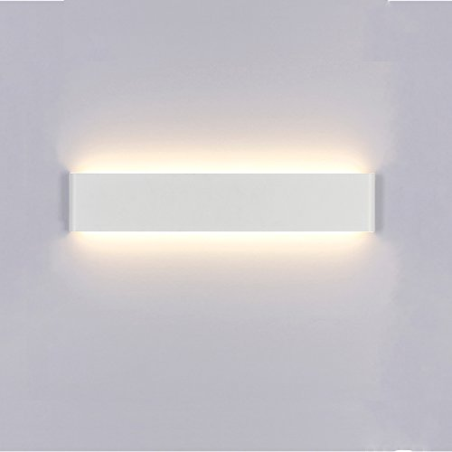 Liqoo Aplique Pared Interior LED Impermeable IP44 Aplique Espejo Baño Diseño Sencillo Moderno 20W Equivalente a 75W Blanco Cálido 3000k AC85-265V Decoración para Pasillo Escalera Restaurante No Regulable