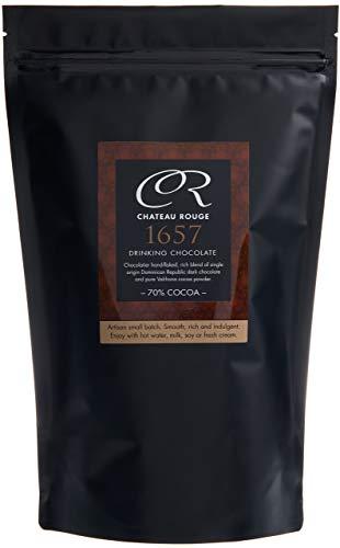 Dunkle Trinkschokolade 70% - 1657, Für Luxus Reine Schokolade, Handgemacht Von GMO-freien Anbau Und Reinem Valrhona Kakaopulver, Spezialitäten Haus Schokolade von Chocolatiers, 450g Geschenkdose