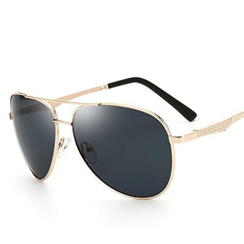 YHW-GLASSES-0819 Gläser Sonnenbrillen für Männer Leichte polarisierte Sonnenbrillen Sonnencreme UV400 Metal Driving Outdoor TAC Full Frame Brillen YHWCUICAN (Color : Gold+Gray)