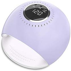 Lampe UV Ongles - UV Sèche Ongles à LED de 84 Watts avec 5 secondes de séchage rapide et Capteur pour Vernis à Ongles en Gel Manucure/Pédicure