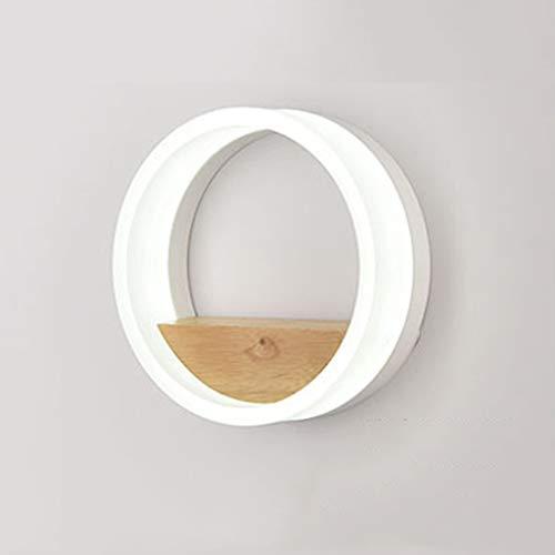 Led massivholz runde Wandleuchte, kinderzimmer Wandleuchte nachttischlampe, Wohnzimmer wanddekoration Lampe Regal -