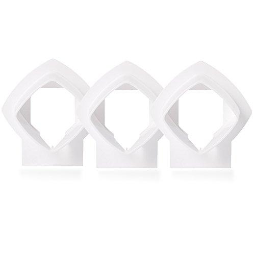 OWSOO Wandhalterung Halterung für Linksys Velop Tri-Band Whole Home WiFi Mesh-System, Weiß 3 Pack -