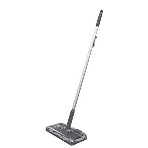 Black+Decker PSA215B-QW 7.2V, 1.5Ah Lithium Akku-Kehrbesen, Laufzeit 60 min, für kurzflorigen Teppiche und Hartböden, kabellos, beutelos, aufladbar, schwarz, PSA215B, Grau