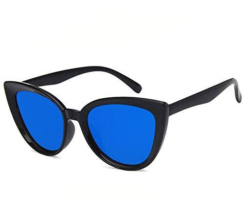 Tiners Cat Eye Sonnenbrillen konkave europäische und amerikanische Mode Wilde Sonnenbrillen,Blue