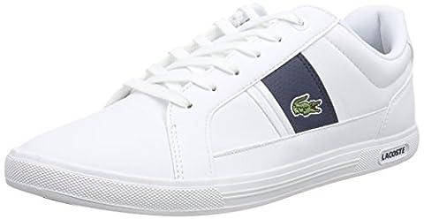 Lacoste EUROPA LCR3, Herren Sneakers, Weiß (WHT/DK BLU X96), 43