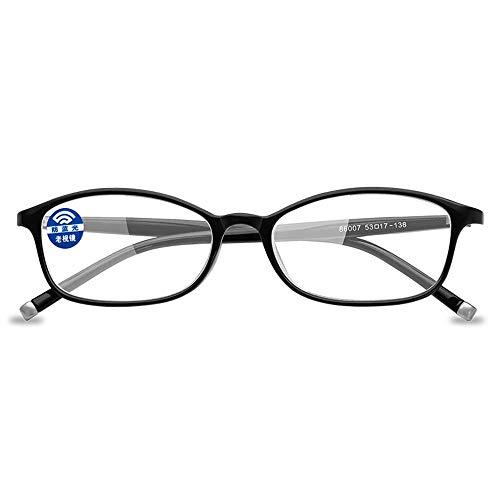 KOMNY FashionAnti-blau Lesebrille für Männer und Frauen lesen Gläser Hyperopie Spiegel Vollrand Strahlung 86.007 schwarz, A + 250