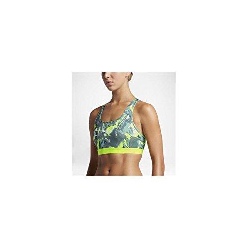Nike Pro CLSC Pad Oil glch Bra–Brassière de sport pour femme gris  (hasta / hasta / volt / blanco)
