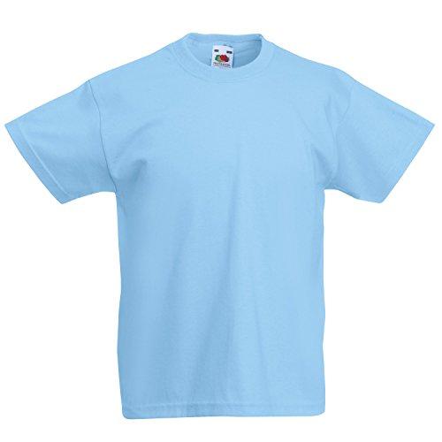 Kurze Full Sleeve Shirt (Fruite of the Loom Kinder T-Shirt, vers. Farben 152,Pastellblau)