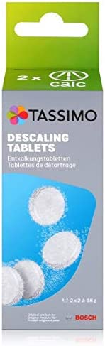 Tassimo TCZ6004 4 tabletter för 2 borttagningsprocesser, plast, vit