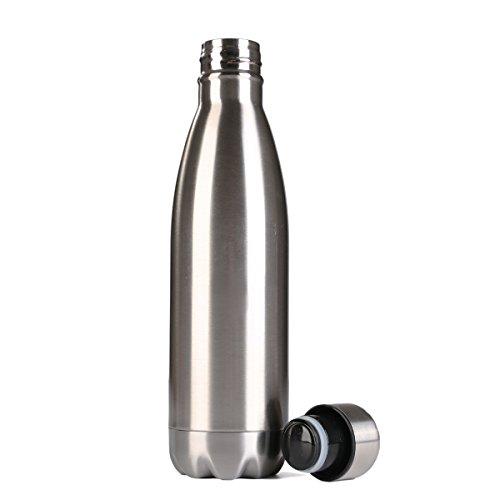 Botella Térmica,Beschoi Botella Térmica de Acero Inoxidable Doble Pa