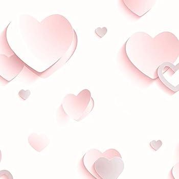 3D Hearts Glitzer Tapete Rollen Pink Muriva J92603 Neu