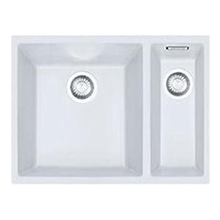 Franke Sirius 1.5 Bowl Polar White Tectonite Undermount Kitchen Sink SID160 WHT