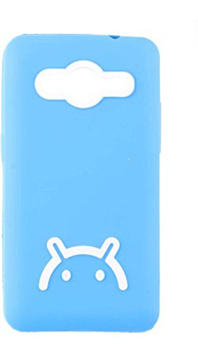 iCandy™ Android Smiley Matte Finish TPU Soft Back Cover for Samsung Galaxy Core 2 G355H - Blue