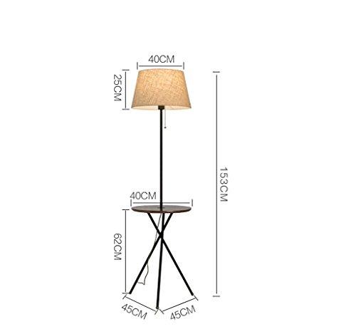 NA Home Stehleuchte, Stehend Lesen Led, Nordic American Wohnzimmer Stehleuchte Schlafzimmer Lampe Kreative Couchtisch Schlafsofa Vertikale Stehleuchte Augenschutz Vertikale Tischlampe,Weiße Schwarze -