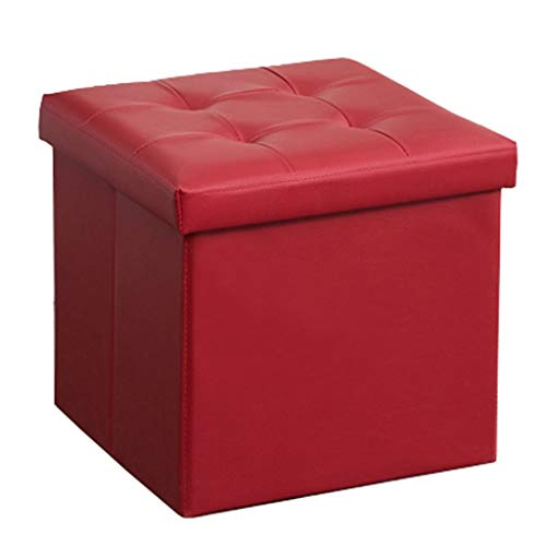 Lagerung Osmanischen Cube Box Praktische Hocker Gepolsterte Fußstütze Platzsparende Einzel Hocker Sitz für Wohnzimmer und Schlafzimmer Max.120KG (38 × 38 × 38 cm)