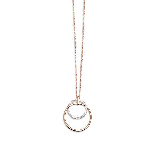 Xenox Damen-Halskette Classy Club 925er Sterlingsilber/rosé Vergoldet mit Zirkonia 45 cm (rosé, 925 Sterlingsilber rosé Vergoldet)