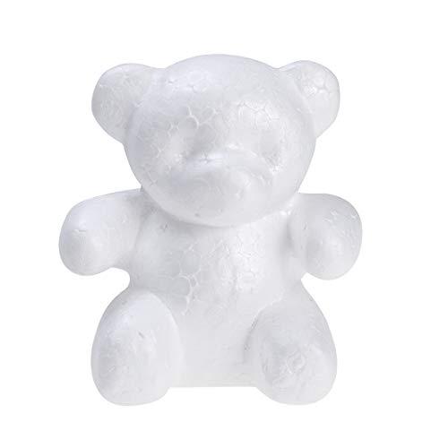 BESTOYARD Polystyrol Bär Schaum Bär Form für Kinder DIY Handwerk Valentinstag Geschenk 15 * 10cm (Weiß)
