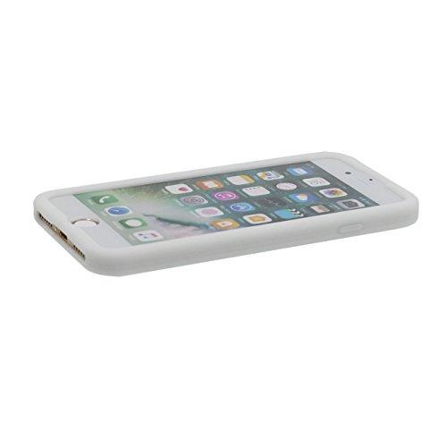 iPhone 7 Hülle, Dünn & Leicht Prämie Weich Silikon Kunststoff Original Klassisch Game Boy 3D Gestalten Serie Schutzhülle Case Anti-Schock für Apple iPhone 7 4.7 inch Weiß
