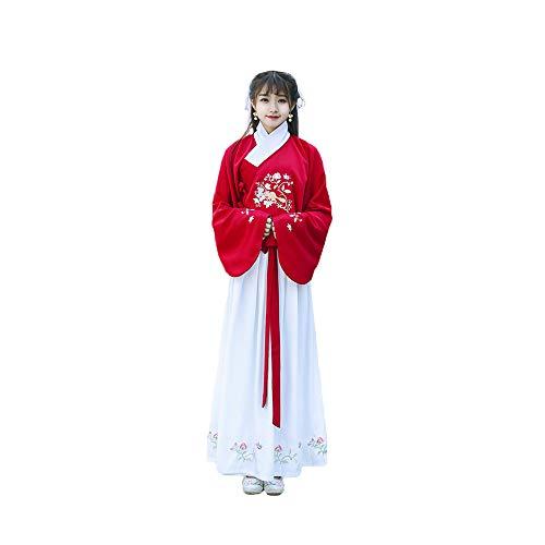 YCWY Das alte chinesische Hanfu-Kleid der Frauen, traditionelles Han-Dynastie-Tang-Anzug Cosplay-Kostüm, gestickte traditionelle Weinlese Cosplay-Aufführungen tragen, Halloween Weihnachten,M