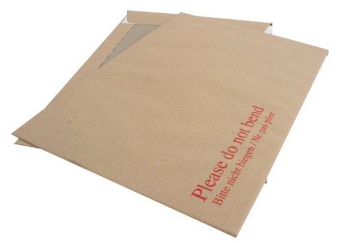 (Q-Connect KF3518 Versandtasche mit kartonverstärktem Rücken, 238 x 163mm, 115g/m², selbstklebend, Manila-Papier, Braun, 125 Stück 10er-Pack 324 x 229 mm)
