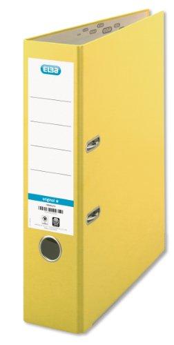 ELBA 100202216 Ordner smart Original Papier 10er 8 cm breit DIN A4 gelb - für den täglichen Gebrauch Zuhause oder im Büro