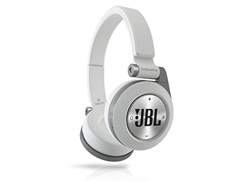 JBL Synchros E40BT Wireless On-Ear Headphones-White
