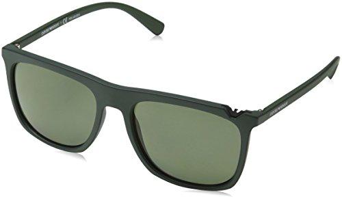 Emporio Armani Herren 0EA4095 Sonnenbrille, Gold (Green On Black), 56