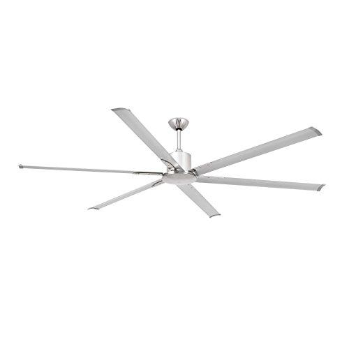 Faro Barcelona 33465 - ANDROS Ventilador de techo sin luz, 6 palas y cuerpo de aluminio y finales de abs