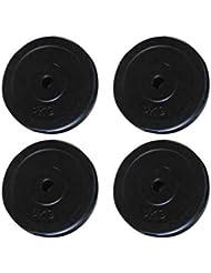 mewmewcat 4 x 5 Kg Disco de Pesas, Diámetro del Disco de 25 cm Negro