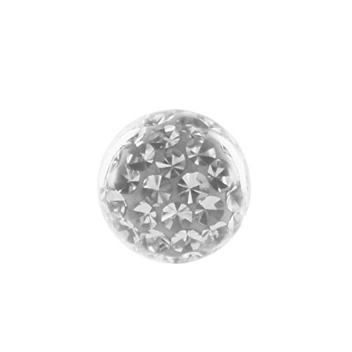 eeddoo Piercingkugel Kristall Kristallklar Epoxy Gewinde: 1,2mm 3 mm