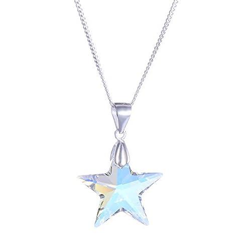 Galaxy Bijoux Collier Pendentif en argent sterling 925avec cristal Swarovski véritable Star–Idéal Cadeau Élégant pour femme et filles dans une boîte cadeau–Impress avec votre style