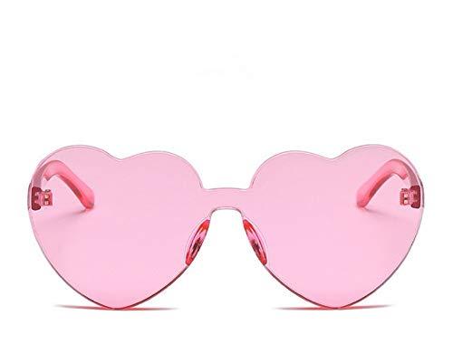 WSKPE Sonnenbrille Liebe Herz Sonnenbrille Frauen Süß Sexy Cat Eye Sonnenbrille Pink
