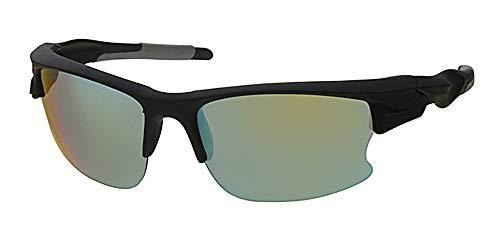 Sport und Sonnenbrillen, frei um gelb Riemen Kordel, grün verspiegelte Gläser, rutschfestem Kunststoff Rahmen