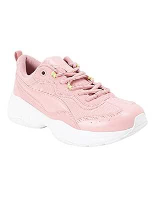 Puma Women's Cilia Shift Bridal Rose-Nrgy Yellow Pink Sneakers-7 UK (40.5 EU) (8 US) (37028402)