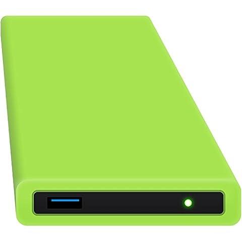 HipDisk GR 250GB SSD Externe Festplatte (6,4 cm (2,5 Zoll), USB 3.0) tragbare portable mit austauschbarer Silikon-Schutzhülle stoßfest wasserabweisend