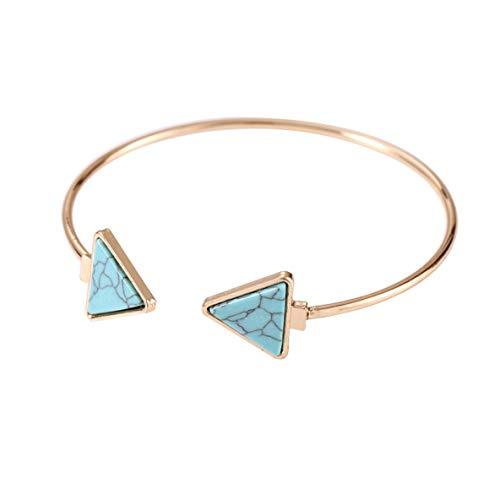 Noradtjcca Hot Fashion Einfache Persönlichkeit Geometrische Stein Textur Eingelegten Marmor Doppel Dreieck Armband Für Frauen Mädchen Schmuck - Doppel-marmor