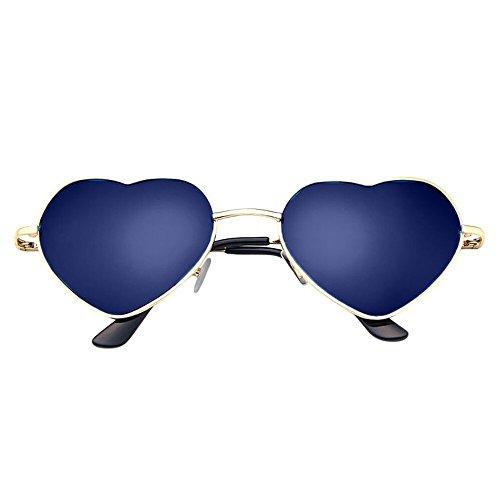Whycat Cateye Sonnenbrille Rot Love Sonnenbrille Für Frauen Polarisierter UV-Schutz, Metallrahmen Herzform(C)