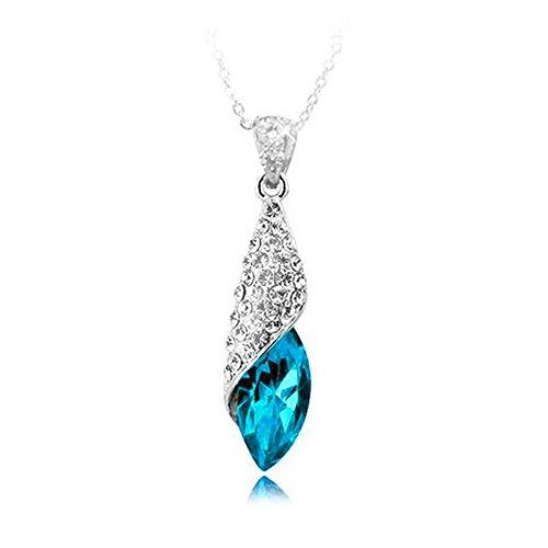 Signore-Signori® Azul Gota de Agua Cristal Austriaco Colgante Collar
