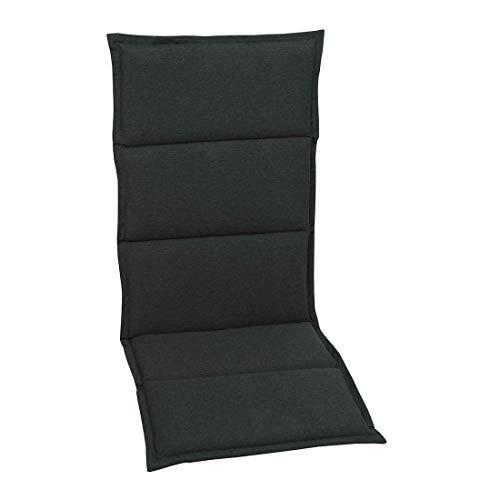 OUTLIV. Polsterauflage Klappsesselauflage KETTLER Basic Plus MWH/Elements Klappsessel Klappstuhl Sitzauflage 120x50x5cm Anthrazit Sesselauflage Stuhlauflage