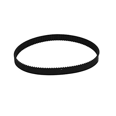 sourcingmap® HTD3M351 117 Teeth 10mm Width Synchronous Closed Loop Rubber Timing Belt Black