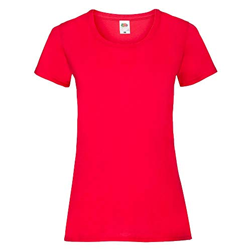 Fruit of the Loom - Lady-Fit Valueweight T - Modell 2013 L,Red