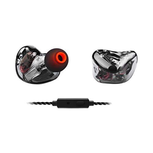 Subwoofer-Headset, Webla, Trn X6 Earhifi 12-Einheiten-Ringeisen-Kopfhörer Telefon-Subwoofer Mit Mikrofon, Pc Schwarz