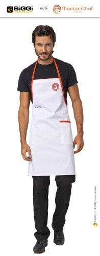 Masterchef–Offizielle Produkt Saison 2014–ITALIEN–Schürze Koch by Horeca Siggi–Farbe Weiß–nicht personalisiert weiß